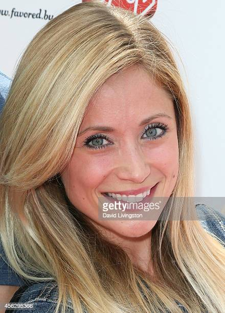 Actress Emme Rylan attends Ali Landry's 3rd Annual Red CARpet Safety Awareness event at the Skirball Cultural Center on September 28 2014 in Los...