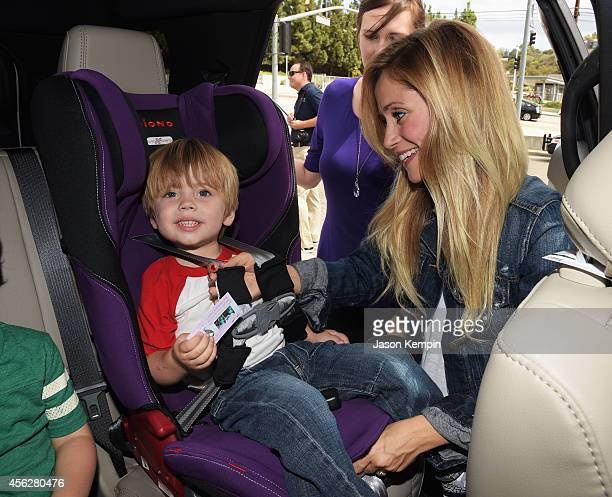 Actress Emme Rylan attends the 3rd annual red CARpet safety awareness event presented by Favoredby Diono And Evenflo at the Skirball Cultural Center...