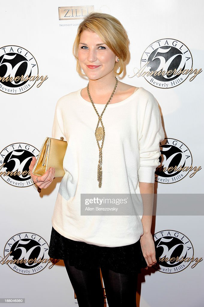 Actress Emmy Buckner attends the Battaglia's 50th Anniversary of Quality & Elegance Celebration on November 14, 2013 in Beverly Hills, California.
