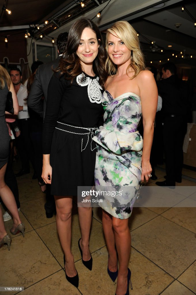 Actress Emmy Rossum (L) and Ali Larter celebrate the release of Ali Larter's new cookbook 'Kitchen Revelry' with Perrier-Jouet at Sunset Tower on August 27, 2013 in West Hollywood, California.