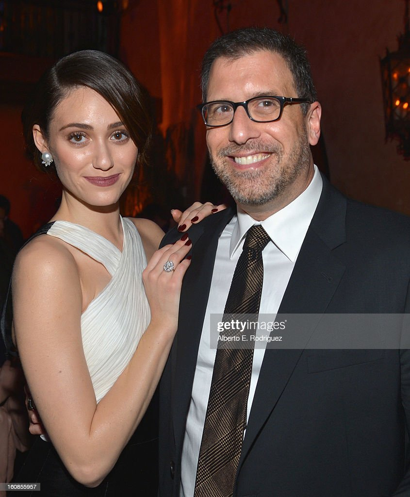 Actress <a gi-track='captionPersonalityLinkClicked' href=/galleries/search?phrase=Emmy+Rossum&family=editorial&specificpeople=202563 ng-click='$event.stopPropagation()'>Emmy Rossum</a> and director Richard LaGravenese attend the after party for the Los Angeles premiere of Warner Bros. Pictures' 'Beautiful Creatures' at TCL Chinese Theatre on February 6, 2013 in Hollywood, California.