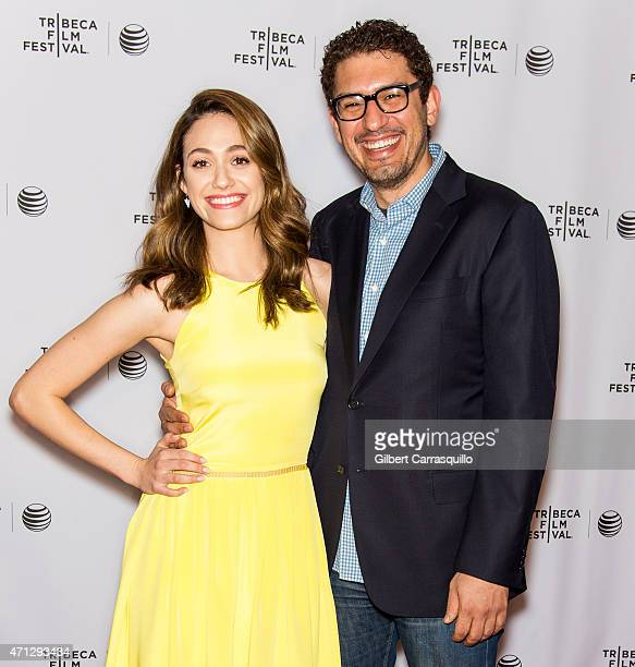 Actress Emmy Rossum and Mr Robot Creator/EP/writer Sam Esmail attend Tribeca Talks 'Mr Robot' during the 2015 Tribeca Film Festival at Chelsea Bow...