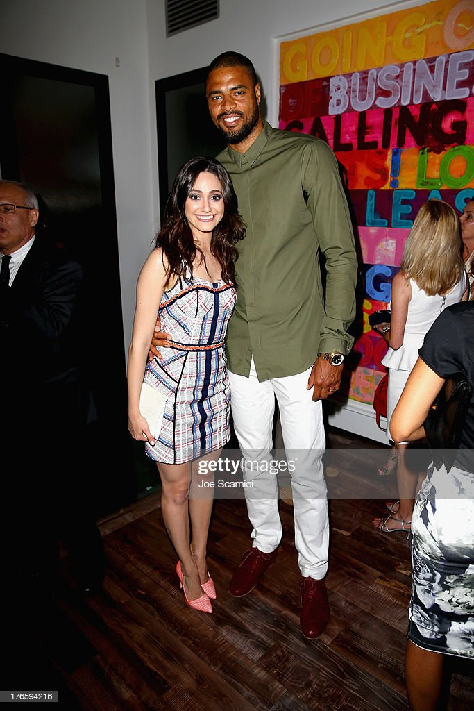 Actress Emmy Rossum and NBA player Tyson Chandler attend a summer celebration hosted by Delta Air Lines on August 15, 2013 in Beverly Hills, featuring celebrity guests, customers and L.A. influencers.
