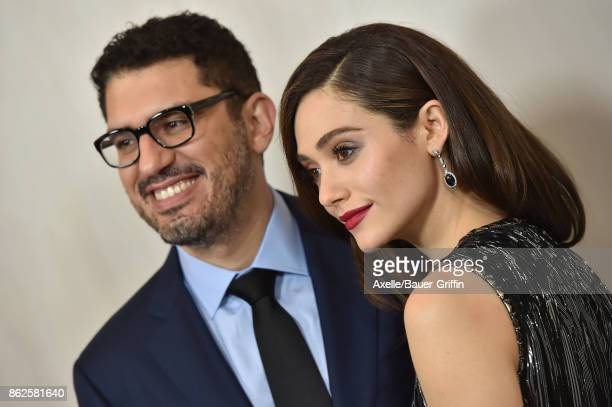 Actress Emmy Rossum and Sam Esmail arrive at Hammer Museum Gala in the Garden on October 14 2017 in Westwood California