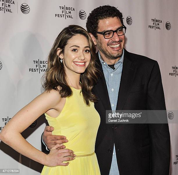 Actress Emmy Rossum and writer Sam Esmail attend the 2015 Tribeca Film Festival Tribeca Talks 'Mr Robot' at Chelsea Bow Tie Cinemas on April 26 2015...