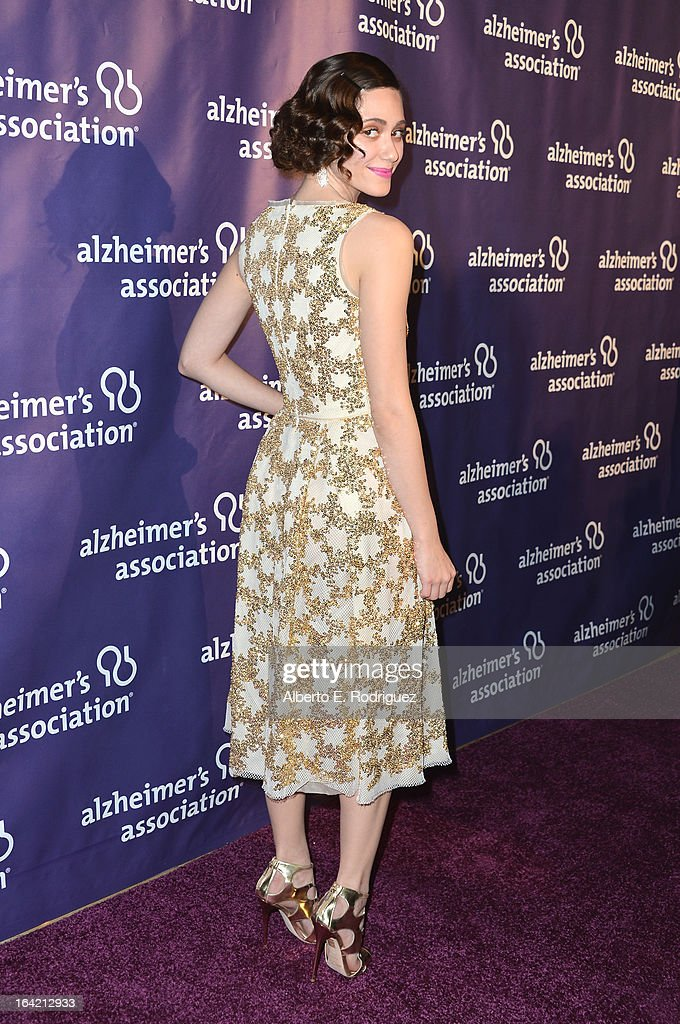 Actress <a gi-track='captionPersonalityLinkClicked' href=/galleries/search?phrase=Emmy+Rossum&family=editorial&specificpeople=202563 ng-click='$event.stopPropagation()'>Emmy Rossum</a> arrives at 21st Annual 'A Night At Sardi's' gala benefiting the Alzheimer's Association - Arrivals at The Beverly Hilton Hotel on March 20, 2013 in Beverly Hills, California.
