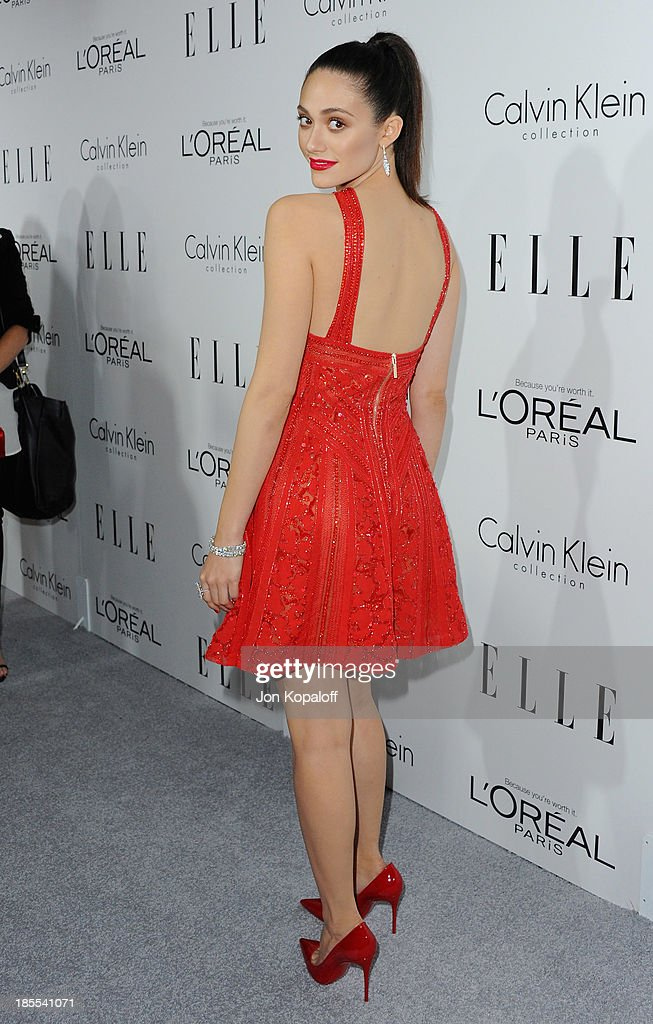 Actress <a gi-track='captionPersonalityLinkClicked' href=/galleries/search?phrase=Emmy+Rossum&family=editorial&specificpeople=202563 ng-click='$event.stopPropagation()'>Emmy Rossum</a> arrives at ELLE Celebrates 20th Annual Women In Hollywood Event at Four Seasons Hotel Los Angeles at Beverly Hills on October 21, 2013 in Beverly Hills, California.