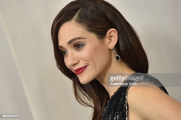 Actress Emmy Rossum arrives at Hammer Museum Gala in the Garden on October 14 2017 in Westwood California