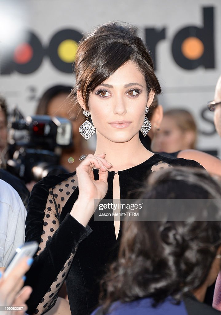 Actress Emmy Rossum arrives at the 2013 Billboard Music Awards at the MGM Grand Garden Arena on May 19, 2013 in Las Vegas, Nevada.