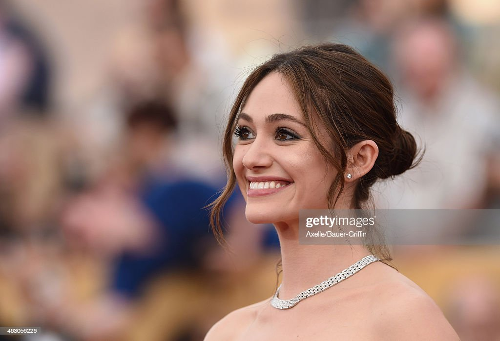 Actress Emmy Rossum arrives at the 21st Annual Screen Actors Guild Awards at The Shrine Auditorium on January 25 2015 in Los Angeles California