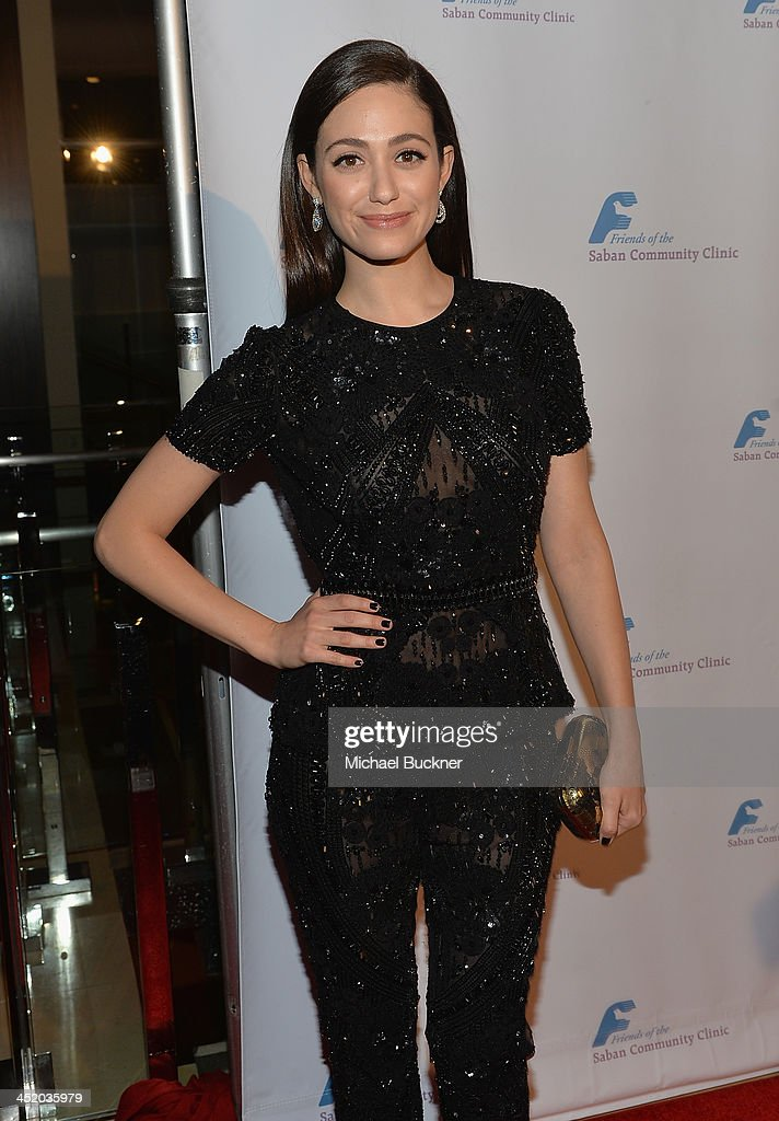 Actress Emmy Rossum arrives at the 37th Annual Saban Community Clinic Gala at The Beverly Hilton Hotel on November 25, 2013 in Beverly Hills, California.
