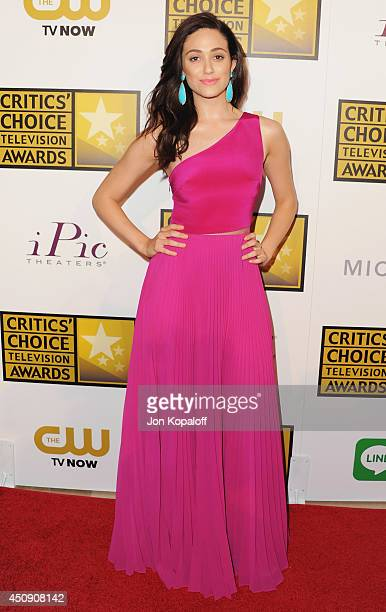 Actress Emmy Rossum arrives at the 4th Annual Critics' Choice Television Awards at The Beverly Hilton Hotel on June 19 2014 in Beverly Hills...