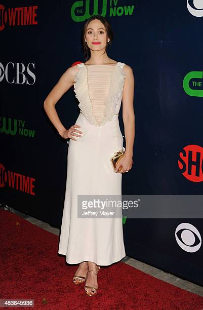 Actress Emmy Rossum arrives at the CBS CW And Showtime 2015 Summer TCA Party at Pacific Design Center on August 10 2015 in West Hollywood California