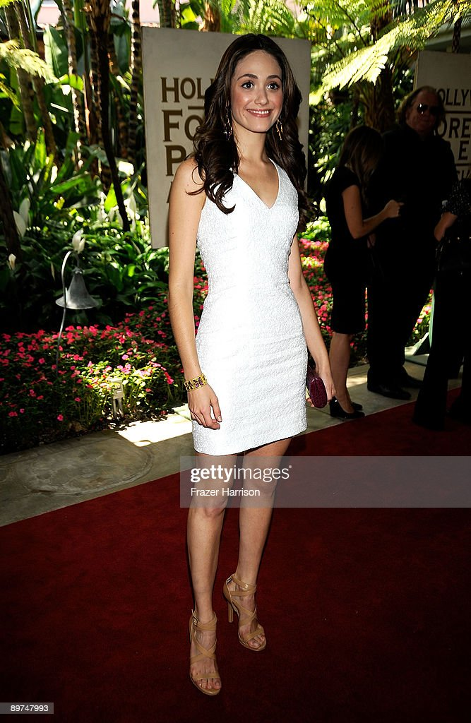Actress Emmy Rossum arrives at the Hollywood Foreign Press Association's Annual installation luncheon held at the Beverly Hills Hotel on August 11, 2009 in Beverly Hills, California.