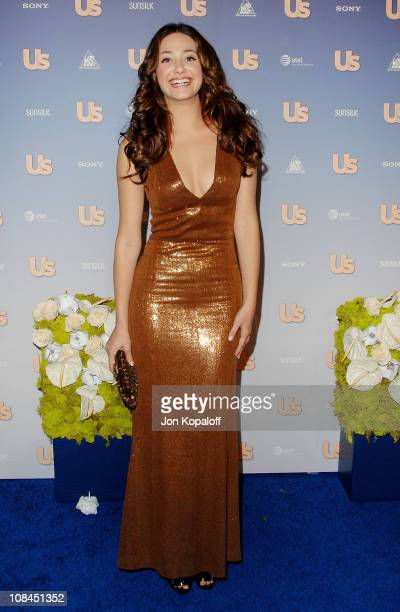 Actress Emmy Rossum arrives at the 'Us Weekly's Hot Hollywood 2007 Arrivals' at Opera on September 26 2007 in Hollywood California
