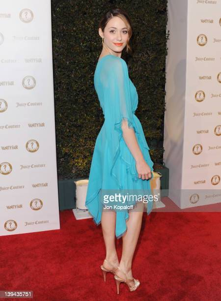 Actress Emmy Rossum arrives at Vanity Fair/Juicy Couture Host Vanities 20th Anniversary And 'Campaign Hollywood' Kick Off Party at Siren Studios on...