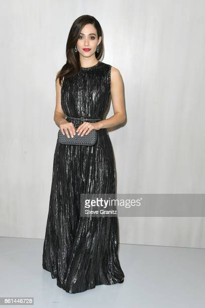 Actress Emmy Rossum at Bottega Veneta Hosts Hammer Museum Gala In The Garden on October 14 2017 in Westwood California