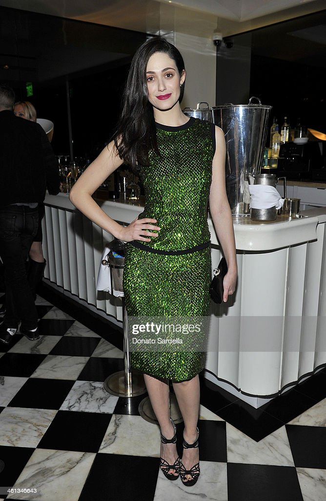 HILLS, CA - JANUARY 07 Actress <a gi-track='captionPersonalityLinkClicked' href=/galleries/search?phrase=Emmy+Rossum&family=editorial&specificpeople=202563 ng-click='$event.stopPropagation()'>Emmy Rossum</a> attend Private Antonio Berardi dinner on January 7, 2014 in Beverly Hills, California.