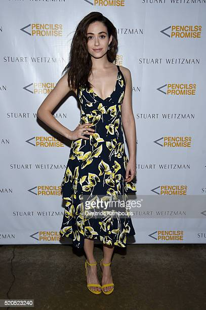 Actress Emmy Rossum attends as Stuart Weitzman launches its partnership with Pencils Of Promise at Sadelle's on April 11 2016 in New York City