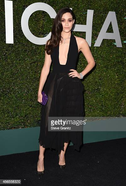 Actress Emmy Rossum attends Claiborne Swanson Frank's Young Hollywood book launch hosted by Michael Kors at Private Residence on October 2 2014 in...