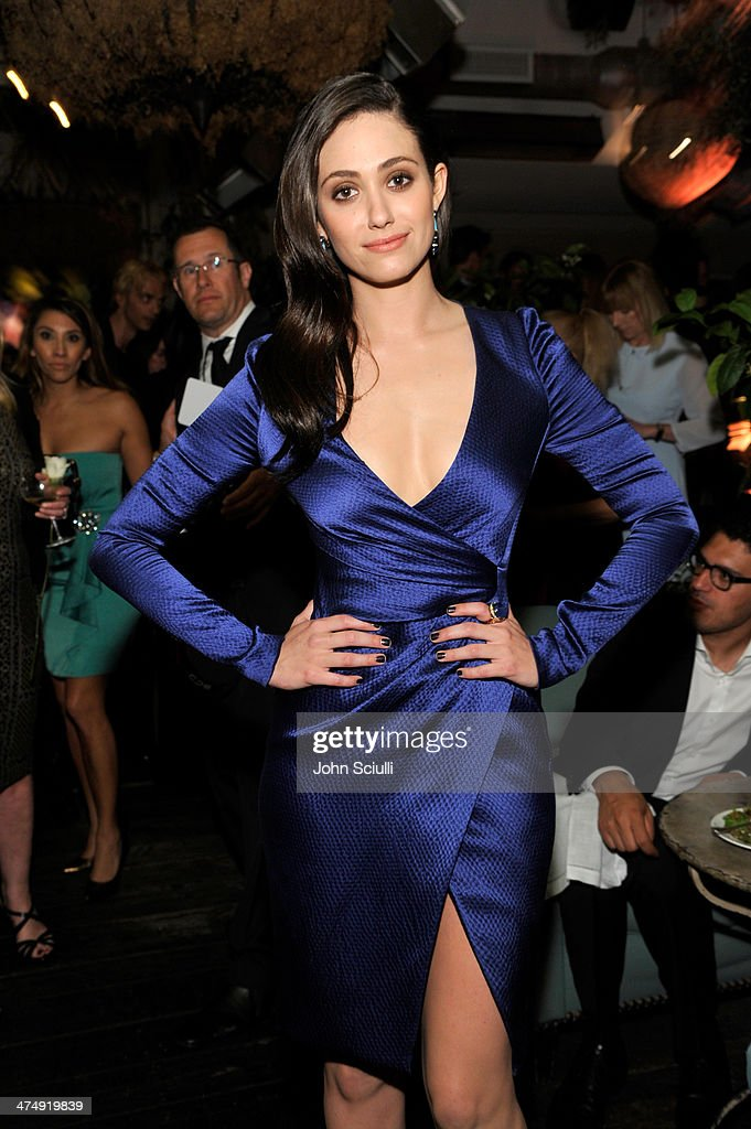 Actress <a gi-track='captionPersonalityLinkClicked' href=/galleries/search?phrase=Emmy+Rossum&family=editorial&specificpeople=202563 ng-click='$event.stopPropagation()'>Emmy Rossum</a> attends 'Decades of Glamour' presented by BVLGARI on February 25, 2014 in West Hollywood, California.