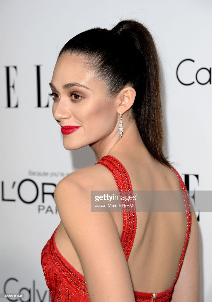 Actress Emmy Rossum attends ELLE's 20th Annual Women In Hollywood Celebration at Four Seasons Hotel Los Angeles at Beverly Hills on October 21, 2013 in Beverly Hills, California.
