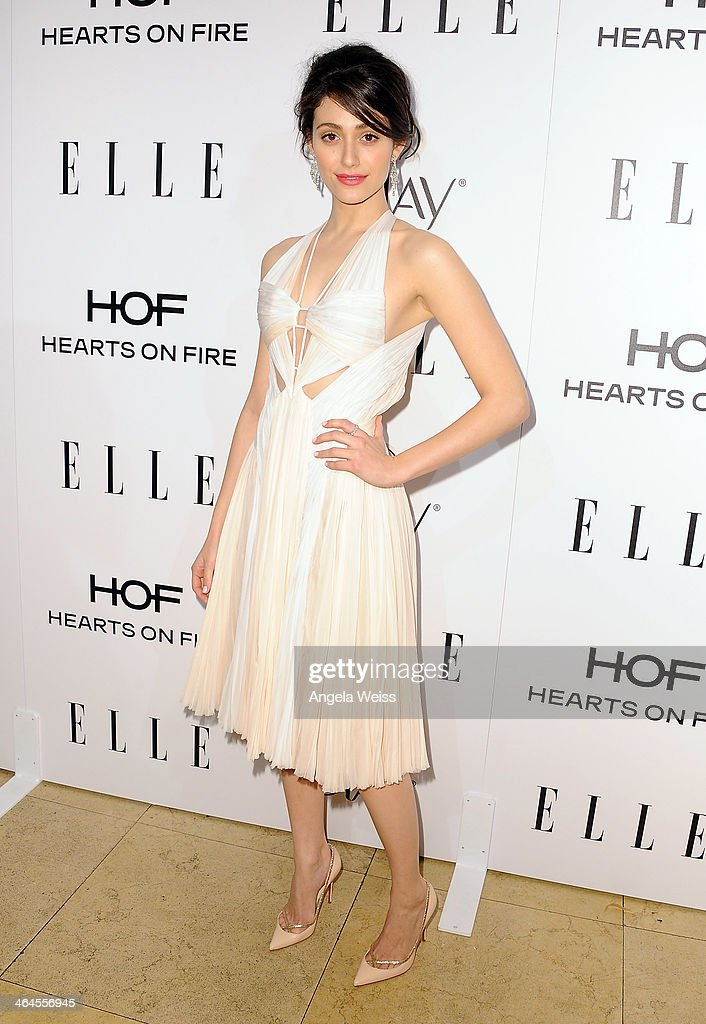 Actress Emmy Rossum attends ELLE's Annual Women in Television Celebration at Sunset Tower on January 22, 2014 in West Hollywood, California.