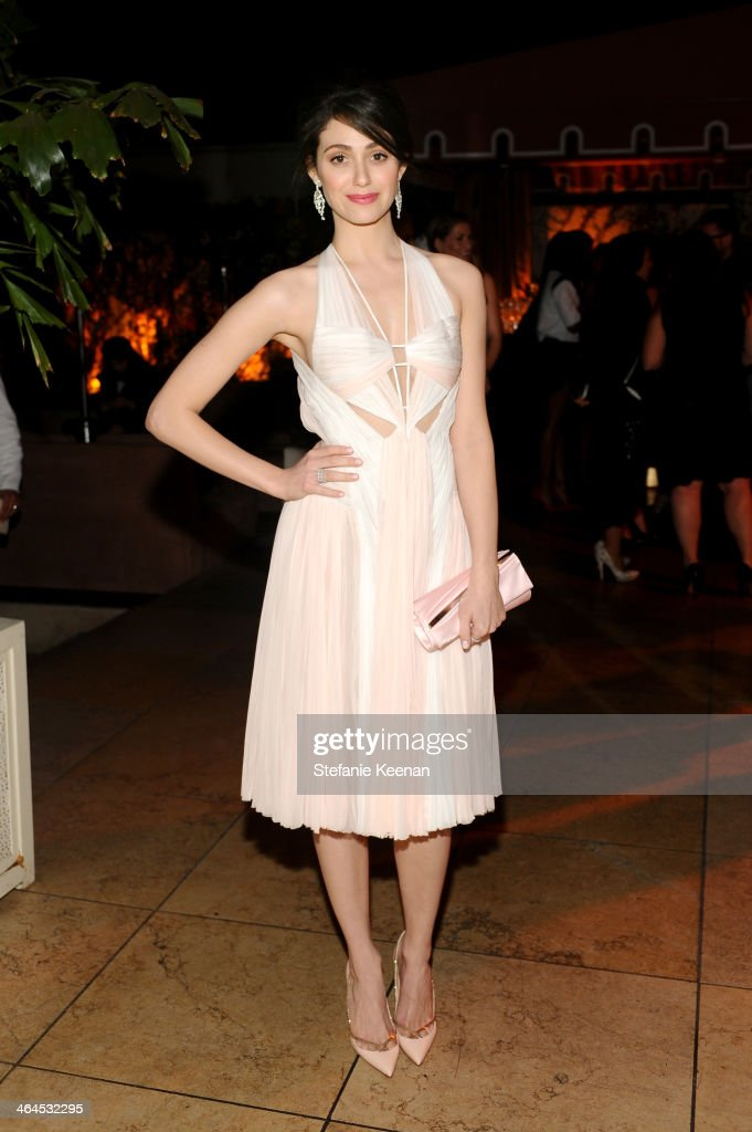 Actress Emmy Rossum attends ELLE's Annual Women in Television Celebration on January 22, 2014 in West Hollywood, California.