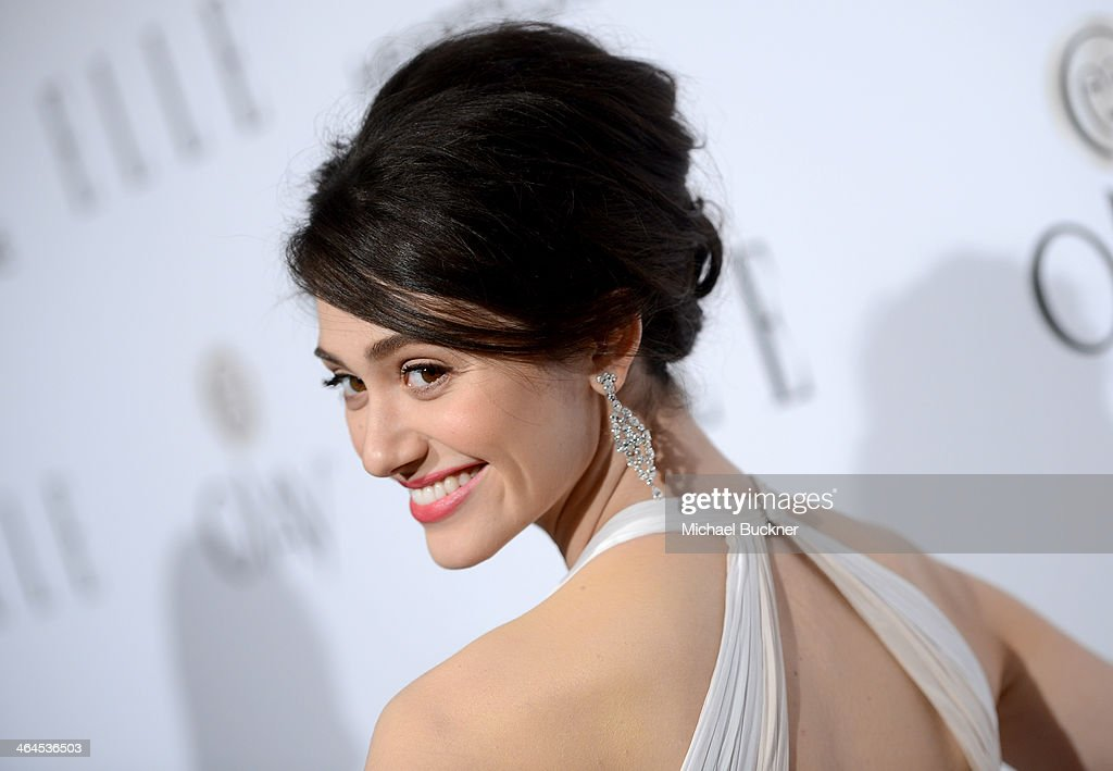 Actress <a gi-track='captionPersonalityLinkClicked' href=/galleries/search?phrase=Emmy+Rossum&family=editorial&specificpeople=202563 ng-click='$event.stopPropagation()'>Emmy Rossum</a> attends ELLE's Annual Women in Television Celebration on January 22, 2014 in West Hollywood, California.