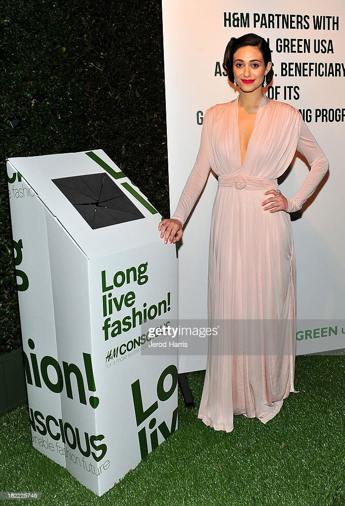 Actress <a gi-track='captionPersonalityLinkClicked' href=/galleries/search?phrase=Emmy+Rossum&family=editorial&specificpeople=202563 ng-click='$event.stopPropagation()'>Emmy Rossum</a> attends Global Green USA's 10th Anniversary Pre-Oscar Party sponsored by H&M at Avalon on February 20, 2013 in Hollywood, California.