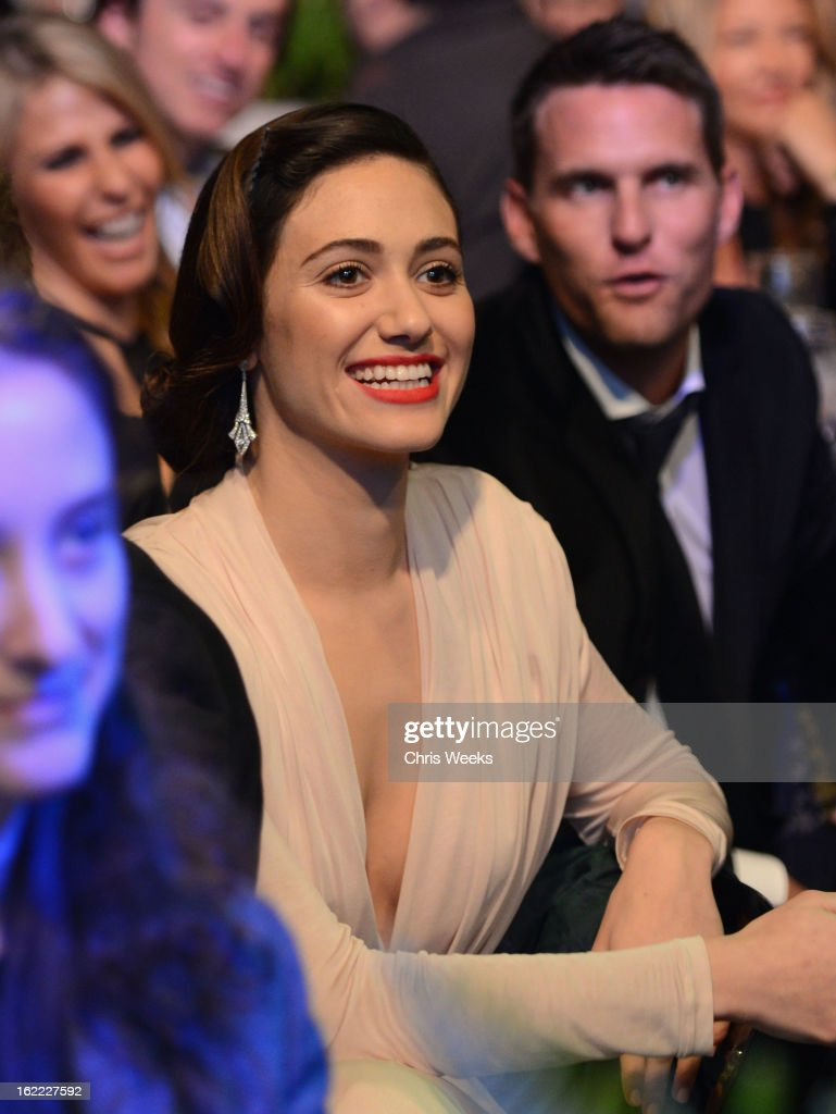 Actress <a gi-track='captionPersonalityLinkClicked' href=/galleries/search?phrase=Emmy+Rossum&family=editorial&specificpeople=202563 ng-click='$event.stopPropagation()'>Emmy Rossum</a> attends Global Green USA's 10th Annual Pre-Oscar Party at Avalon on February 20, 2013 in Hollywood, California.