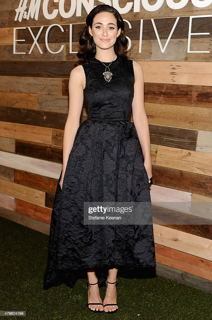 Actress <a gi-track='captionPersonalityLinkClicked' href=/galleries/search?phrase=Emmy+Rossum&family=editorial&specificpeople=202563 ng-click='$event.stopPropagation()'>Emmy Rossum</a> attends H&M Conscious Exclusive Dinner at Eveleigh on March 19, 2014 in West Hollywood, California.