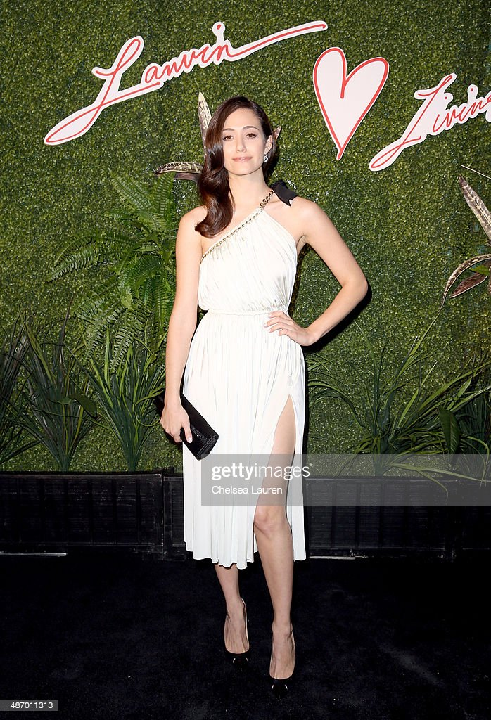 Actress Emmy Rossum attends Lanvin And Living Beauty Host An Evening Of Fashion on April 26, 2014 in Beverly Hills, California.