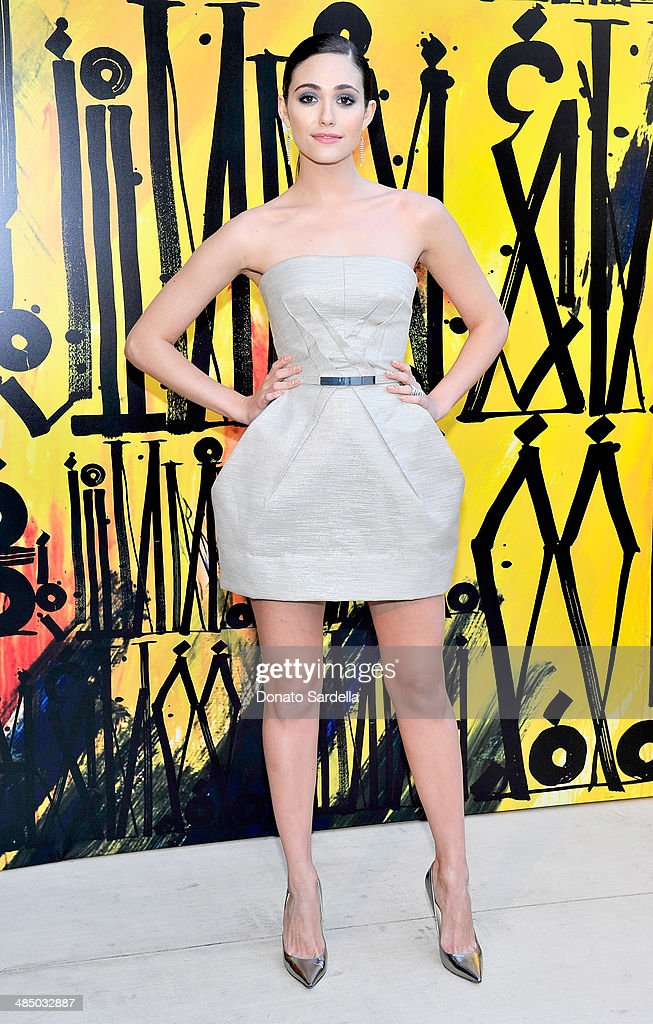 Actress <a gi-track='captionPersonalityLinkClicked' href=/galleries/search?phrase=Emmy+Rossum&family=editorial&specificpeople=202563 ng-click='$event.stopPropagation()'>Emmy Rossum</a> attends Launch Of CHOO.08 hosted by Jimmy Choo's Sandra Choi on April 15, 2014 in Beverly Hills, California.