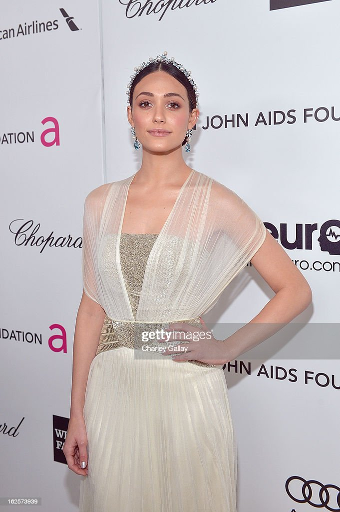 Actress Emmy Rossum attends Neuro at 21st Annual Elton John AIDS Foundation Academy Awards Viewing Party at West Hollywood Park on February 24, 2013 in West Hollywood, California.