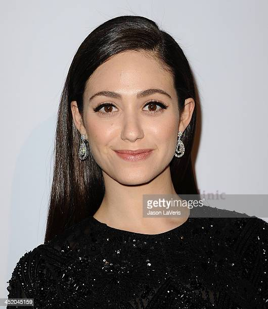 Actress Emmy Rossum attends Saban Community Clinic's 37th annual benefit gala at The Beverly Hilton Hotel on November 25 2013 in Beverly Hills...