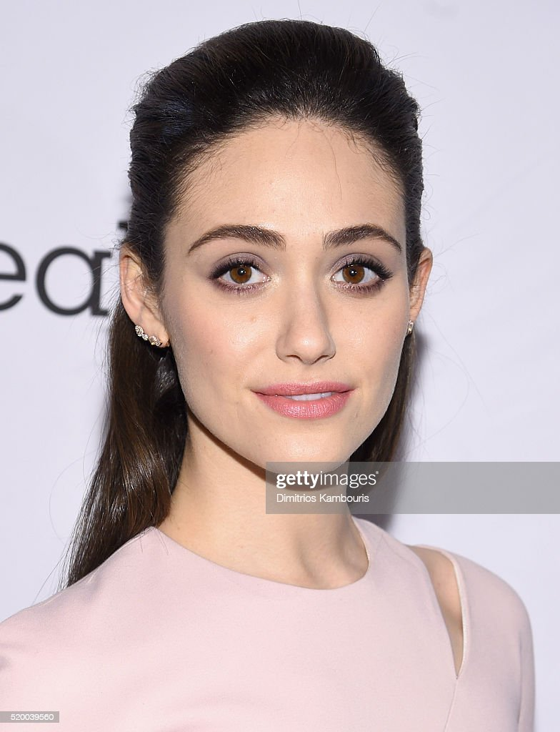 Actress Emmy Rossum attends Stand Up To Cancer's New York Standing Room Only, presented by Entertainment Industry Foundation, with donors American Airlines and Merck, chaired by Jim Toth, Reese Witherspoon & MasterCard President/CEO Ajay Banga and his wife Ritu, honoring Katie Couric at Cipriani Wall Street on April 9, 2016 in New York City.