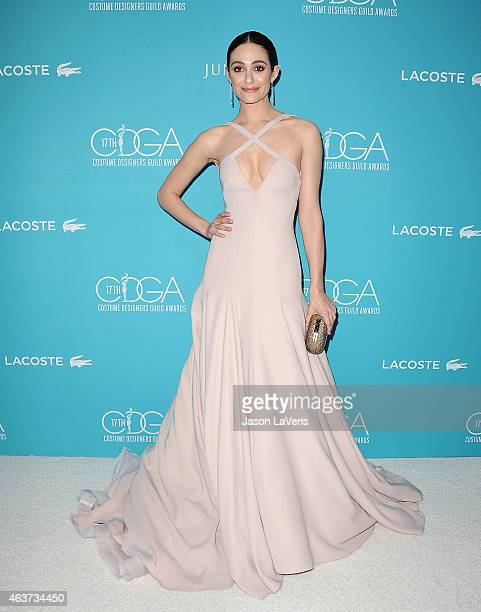Actress Emmy Rossum attends the 17th Costume Designers Guild Awards at The Beverly Hilton Hotel on February 17 2015 in Beverly Hills California