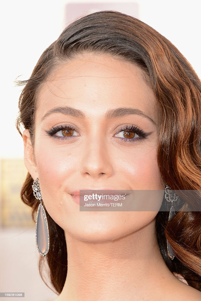 Actress Emmy Rossum attends the 18th Annual Critics' Choice Movie Awards held at Barker Hangar on January 10, 2013 in Santa Monica, California.