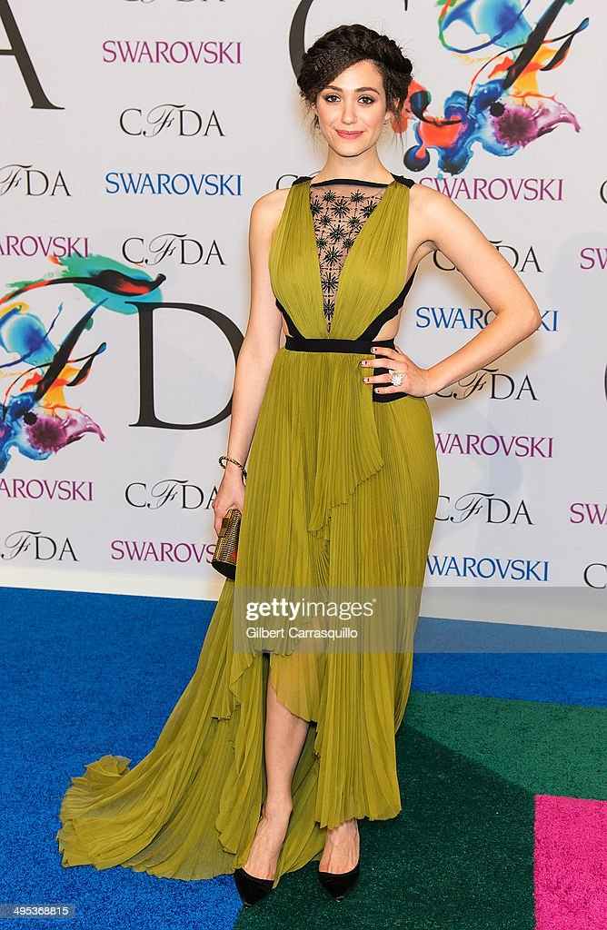 Actress Emmy Rossum attends the 2014 CFDA fashion awards at Alice Tully Hall, Lincoln Center on June 2, 2014 in New York City.