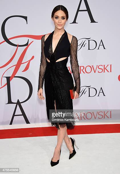 Actress Emmy Rossum attends the 2015 CFDA Fashion Awards at Alice Tully Hall at Lincoln Center on June 1 2015 in New York City