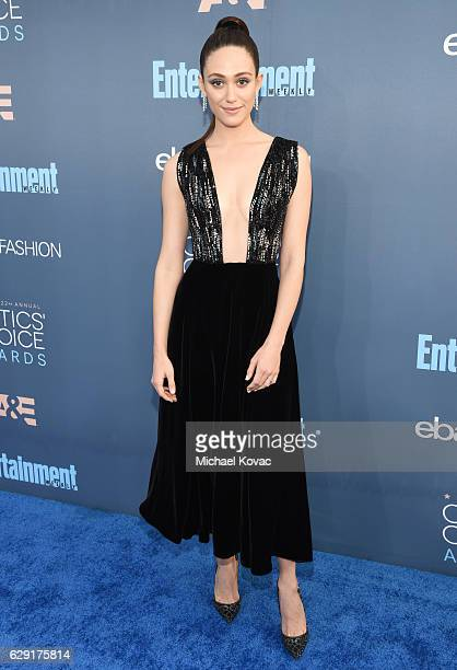 Actress Emmy Rossum attends The 22nd Annual Critics' Choice Awards at Barker Hangar on December 11 2016 in Santa Monica California