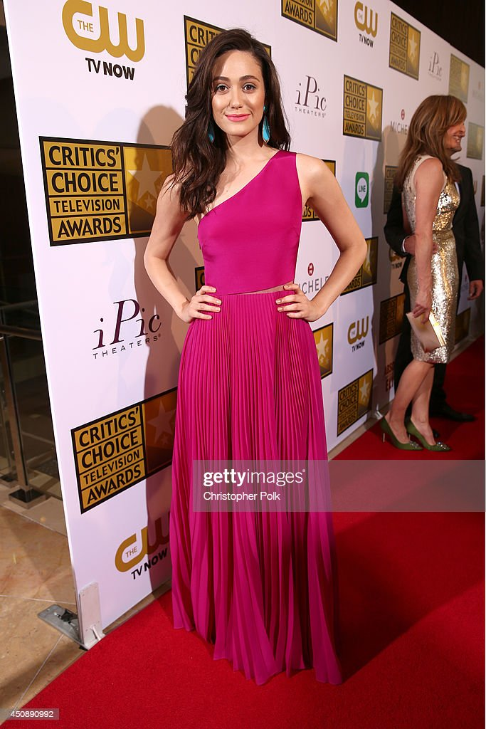 Actress <a gi-track='captionPersonalityLinkClicked' href=/galleries/search?phrase=Emmy+Rossum&family=editorial&specificpeople=202563 ng-click='$event.stopPropagation()'>Emmy Rossum</a> attends the 4th Annual Critics' Choice Television Awards at The Beverly Hilton Hotel on June 19, 2014 in Beverly Hills, California.