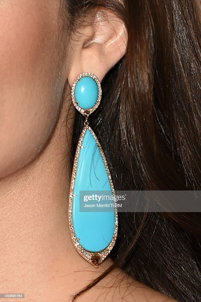 Actress Emmy Rossum (jewelry detail) attends the 4th Annual Critics' Choice Television Awards at The Beverly Hilton Hotel on June 19, 2014 in Beverly Hills, California.