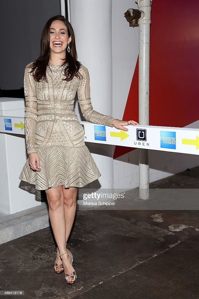 Actress <a gi-track='captionPersonalityLinkClicked' href=/galleries/search?phrase=Emmy+Rossum&family=editorial&specificpeople=202563 ng-click='$event.stopPropagation()'>Emmy Rossum</a> attends the American Express And Uber Mobile Loyalty Program launch at Hudson Mercantile on June 10, 2014 in New York City.