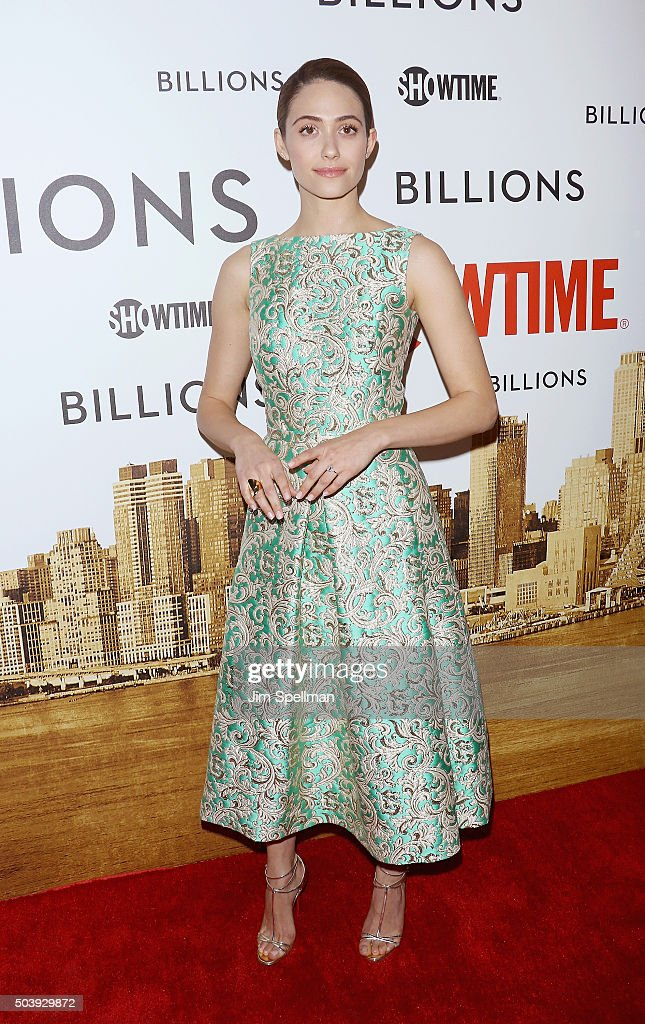Actress Emmy Rossum attends the 'Billions' series premiere at Museum of Modern Art on January 7, 2016 in New York City.