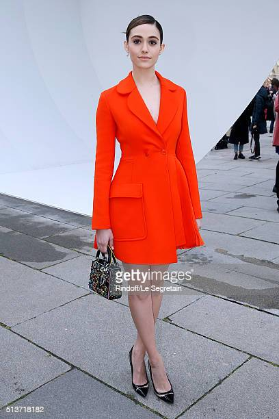 Actress Emmy Rossum attends the Christian Dior show as part of the Paris Fashion Week Womenswear Fall/Winter 2016/2017 on March 4 2016 in Paris France