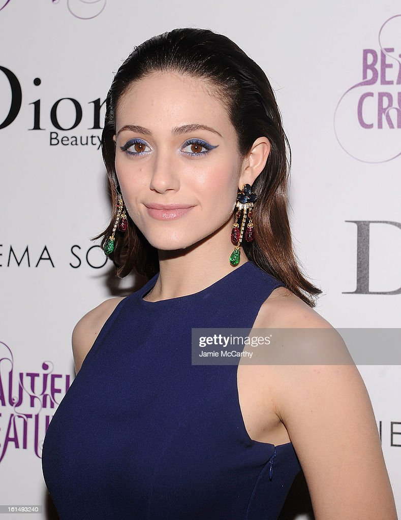 Actress <a gi-track='captionPersonalityLinkClicked' href=/galleries/search?phrase=Emmy+Rossum&family=editorial&specificpeople=202563 ng-click='$event.stopPropagation()'>Emmy Rossum</a> attends The Cinema Society And Dior Beauty Presents A Screening Of 'Beautiful Creatures' at Tribeca Cinemas on February 11, 2013 in New York City.