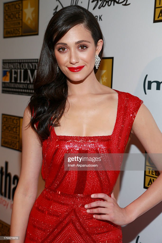 Actress <a gi-track='captionPersonalityLinkClicked' href=/galleries/search?phrase=Emmy+Rossum&family=editorial&specificpeople=202563 ng-click='$event.stopPropagation()'>Emmy Rossum</a> attends the Critics' Choice Television Awards at The Beverly Hilton Hotel on June 10, 2013 in Beverly Hills, California.