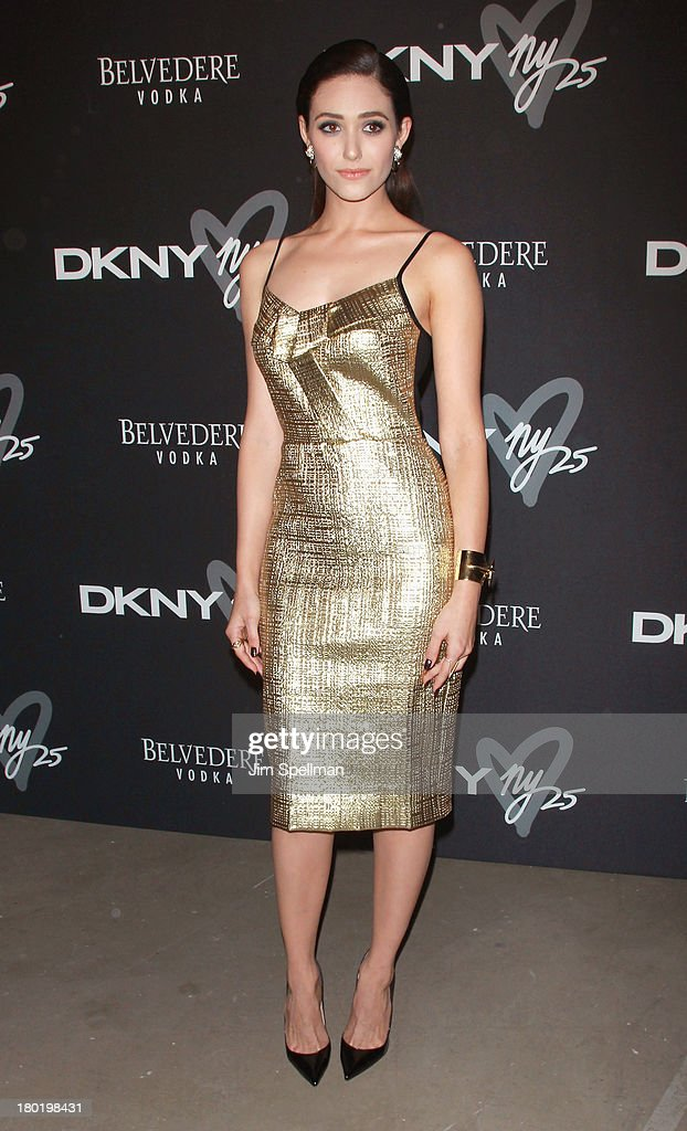 Actress Emmy Rossum attends the #DKNY25 Birthday Bash at 23 Wall Street on September 9, 2013 in New York City.